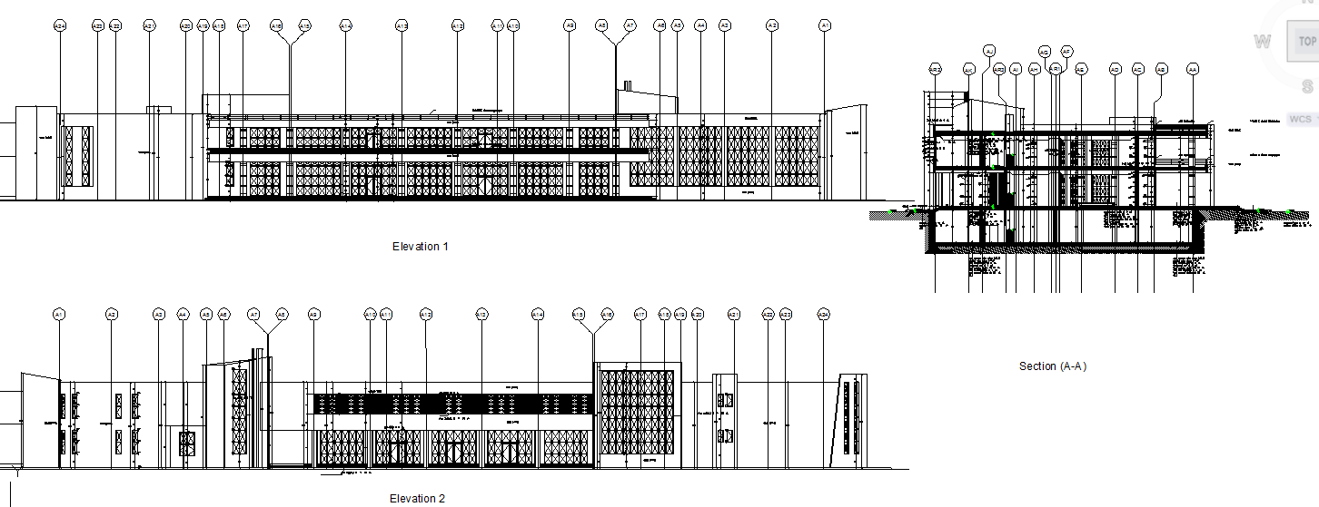Club House Elevations & Section