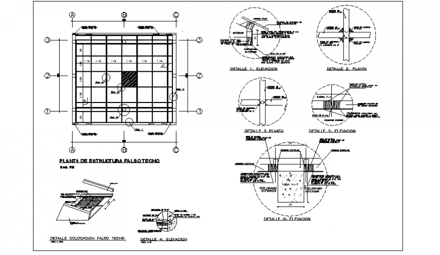 False ceiling design drawing of common local municipal ...