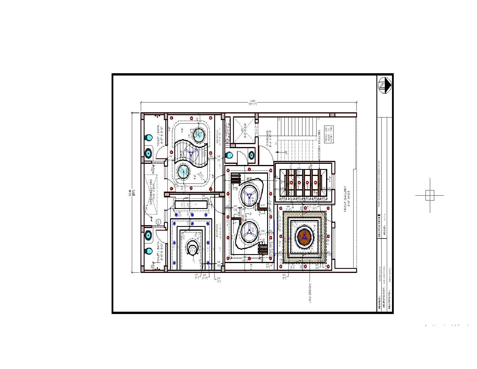 false ceiling plan 2BHK