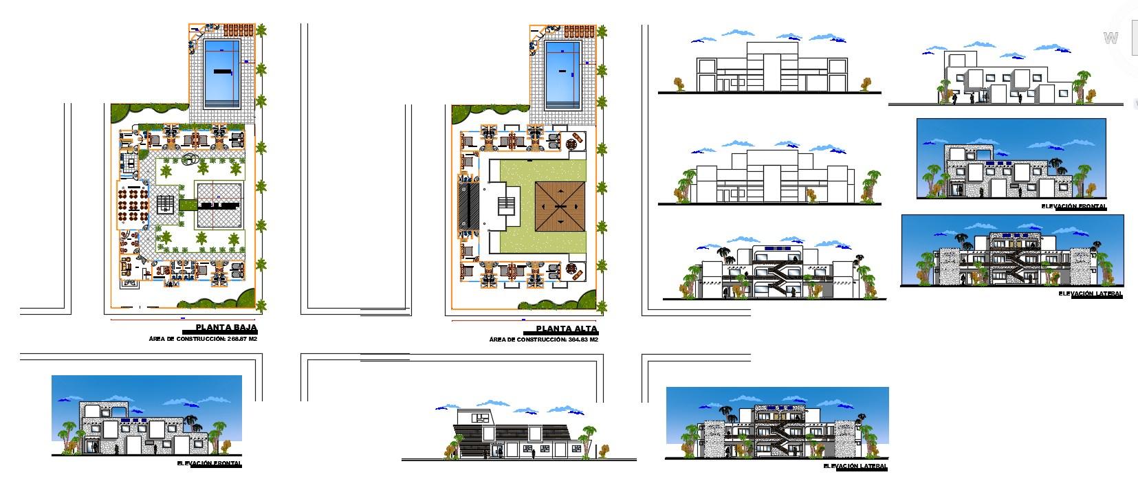 Beach hostel Design Plan