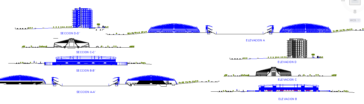 Olimpic Park Elevation and Section Detail
