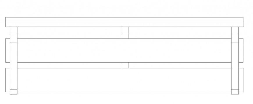 Front bench detailing 2d model detail dwg file