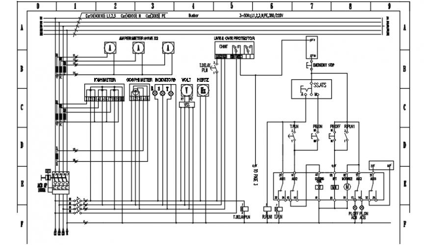 gambar wiring genset pasar electric diagram details dwg file