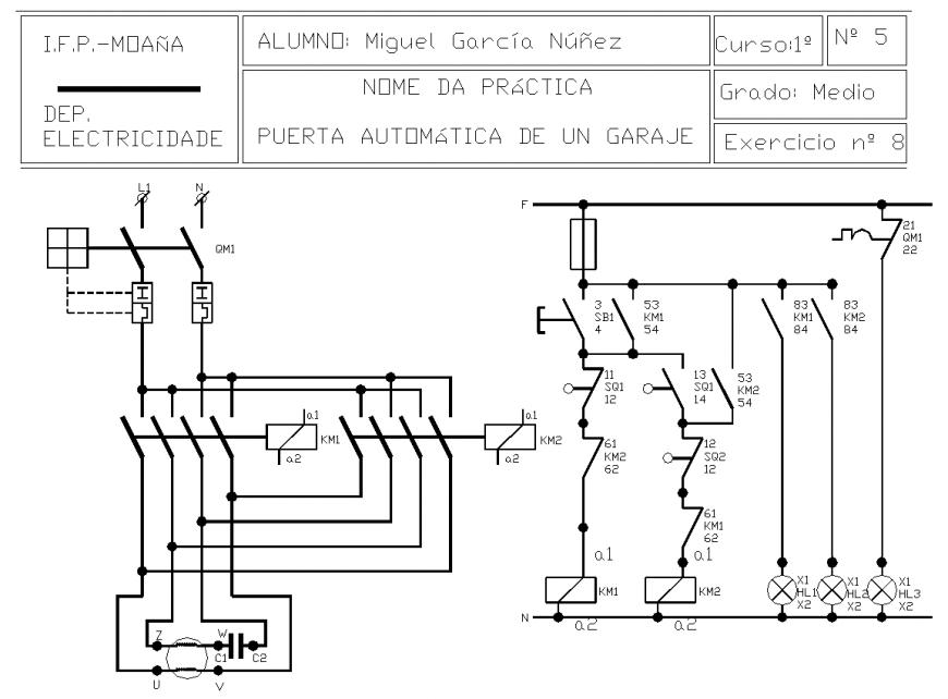 Garage electric detail drawing in dwg file.