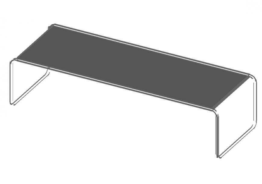 Garden desk chair cad block details dwg file