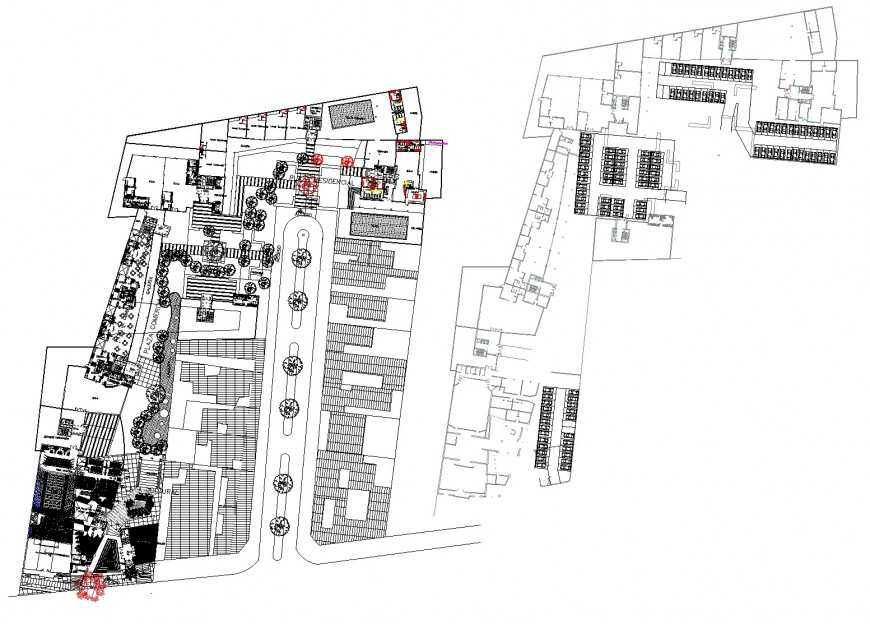 Habitational group theatre commercial stores detail dwg file