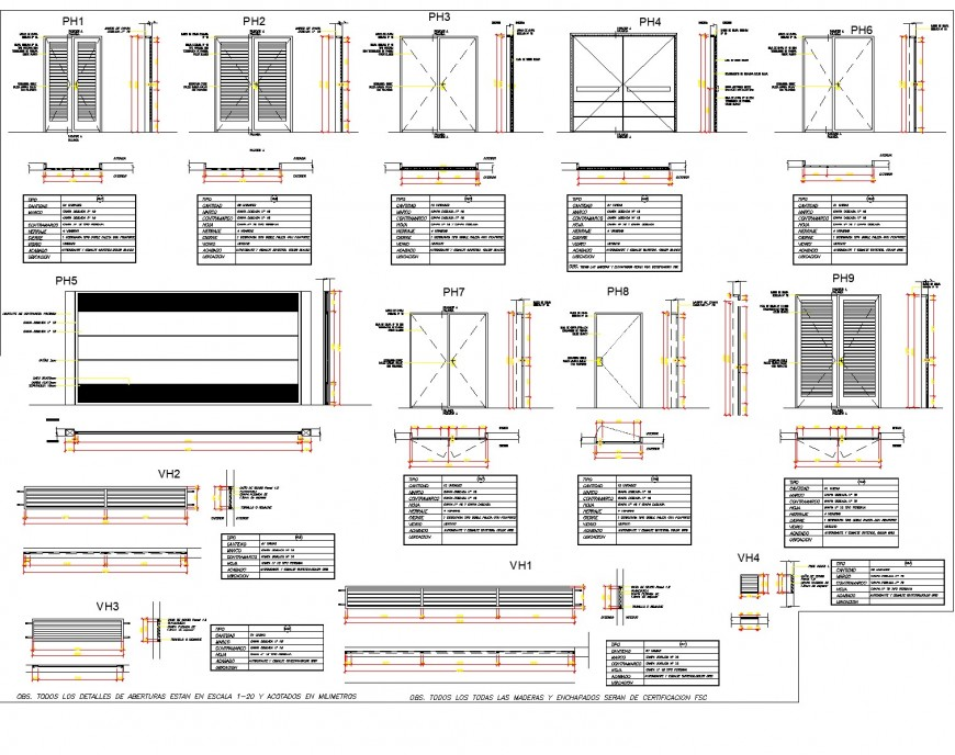 Hatching door plan detail dwg file