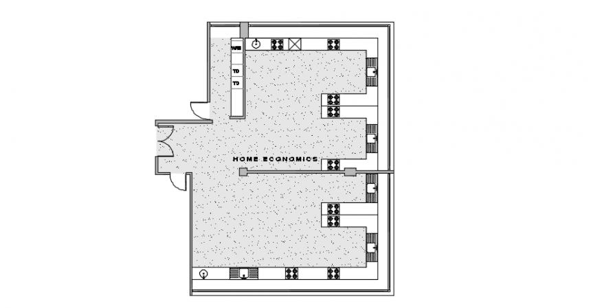 Home classroom design top view plan