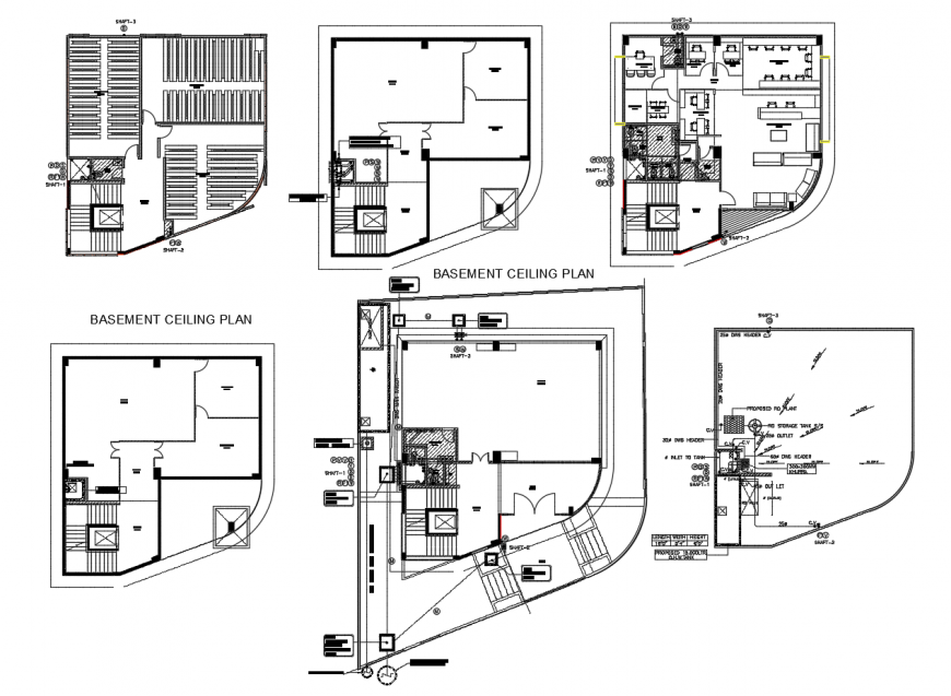 Home urban plan in auto cad software
