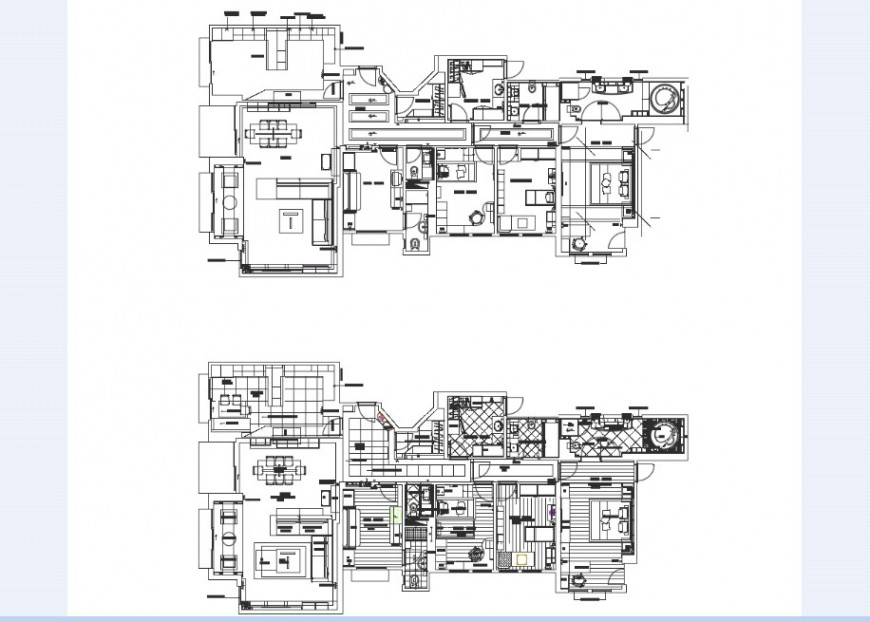 House floor plan in autocad software file