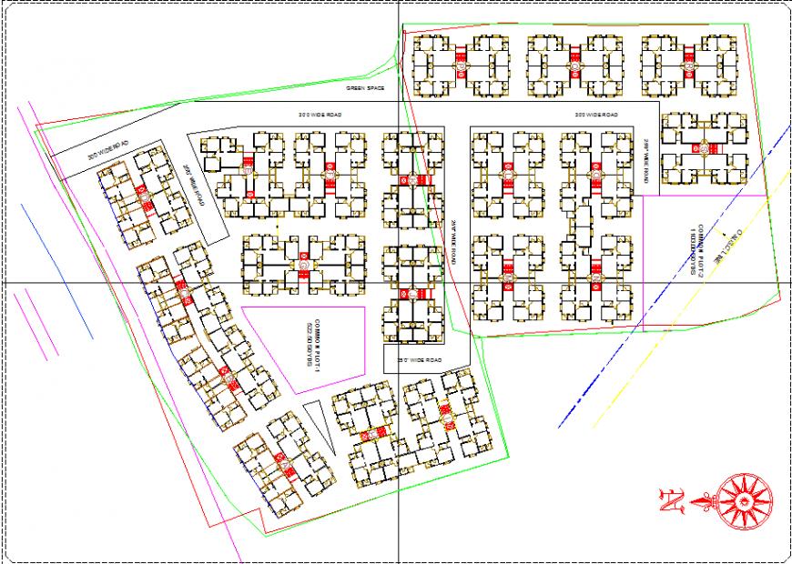 Housing master plan detail drawing in dwg file.