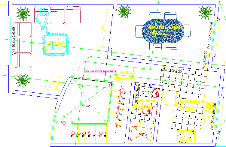 interior project dwg file