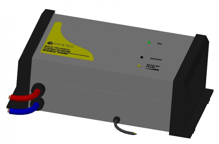 Invertor electrical automation blocks 3d model dwg file