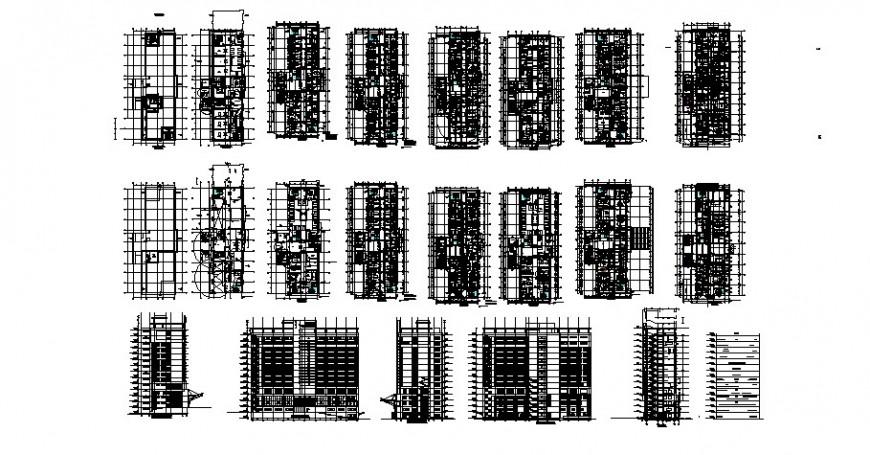 Kathmandu International hospital floor plan and elevation in auto cad
