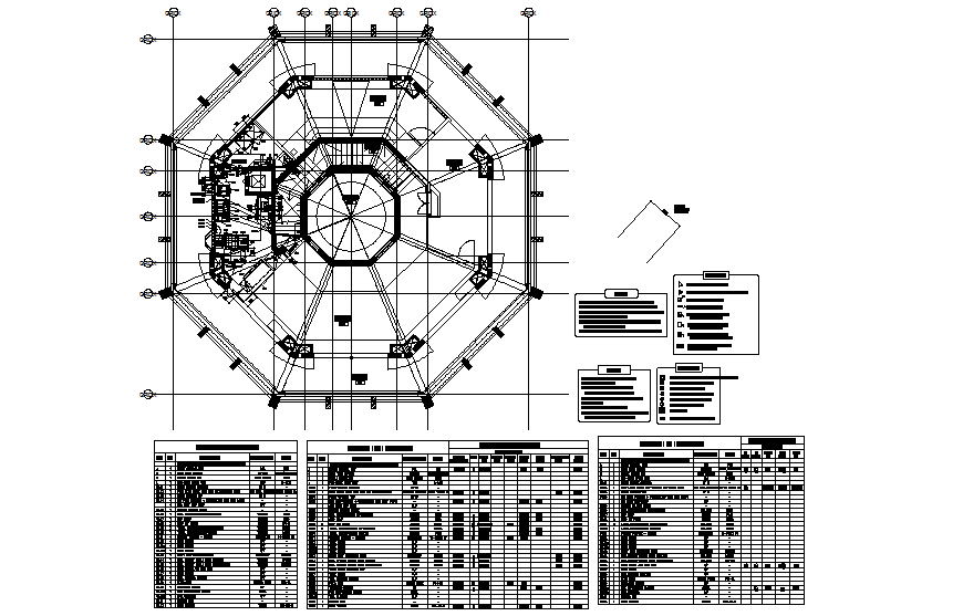 Kids restaurant architecture layout plan details dwg file