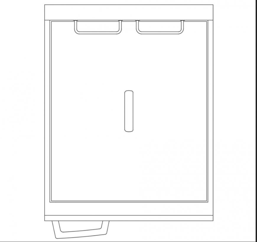 Kitchen Dwg File: Kitchen Deep Fat Fryer Machine Top View Design Dwg File