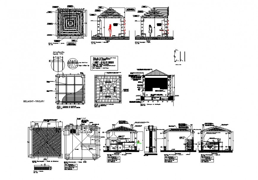 Kitchen house detail drawing in dwg AutoCAD file.