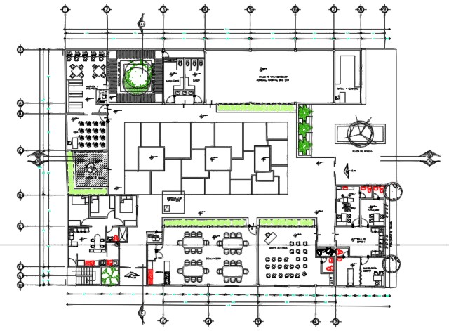 layout of plaza building