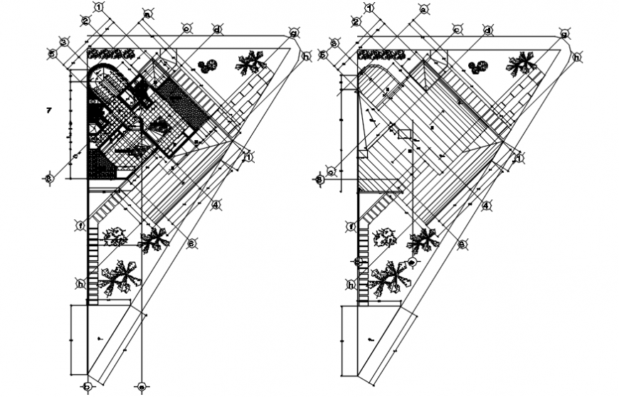 layout plans of a hotel 2d