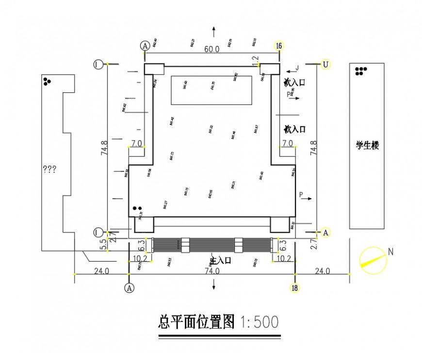 Line Plan auditorium detail dwg file