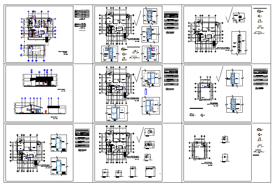 micro regional health center Detail in autocad file