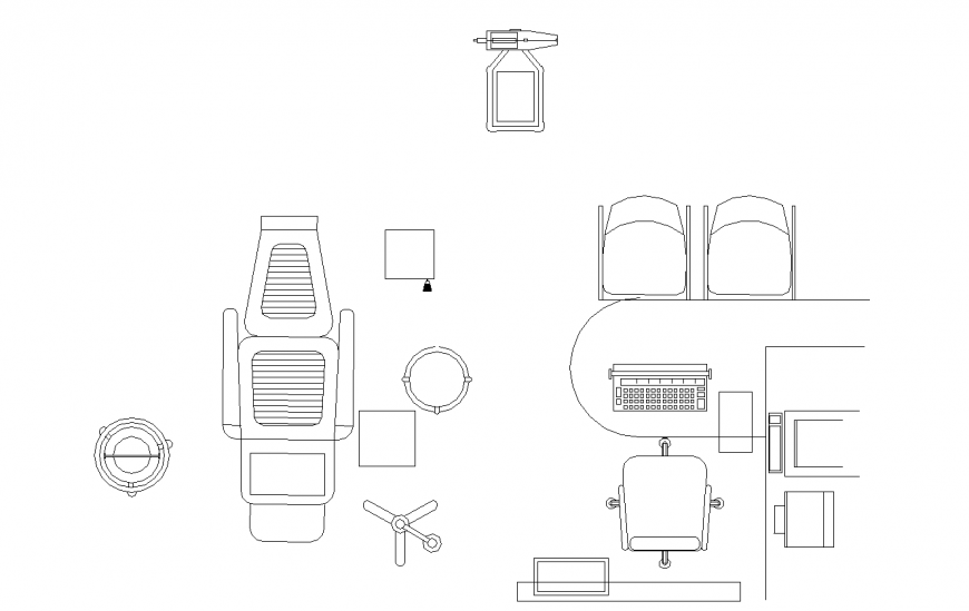 Miscellaneous 2d office furniture blocks cad drawing ...