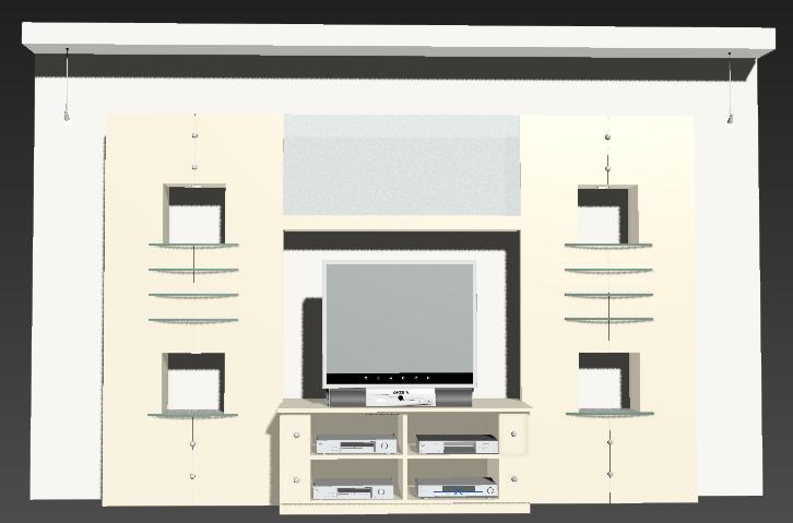 modern cemetric tv unit