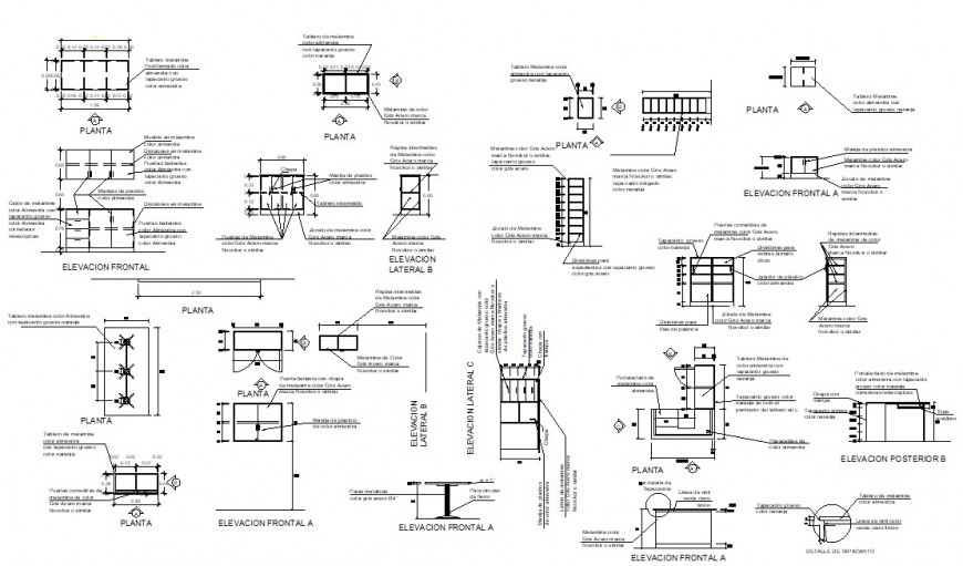 Multiple windows of villa elevations and installation drawing details dwg file