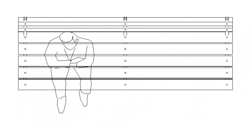 One men bench plan layout file