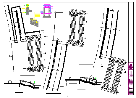 outdoor staircase detail and handicapped ramp detail design drawing