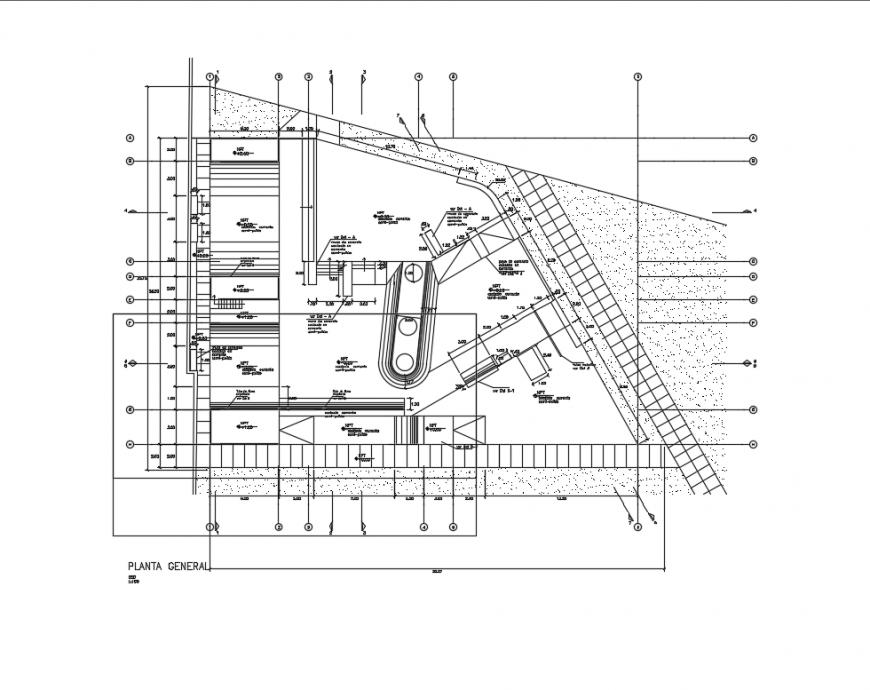 Peru skate garden landscaping structure cad drawing details dwg file