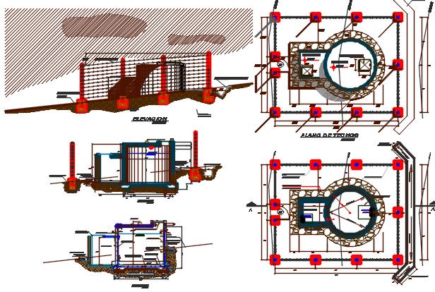 plan reservoir dwg file