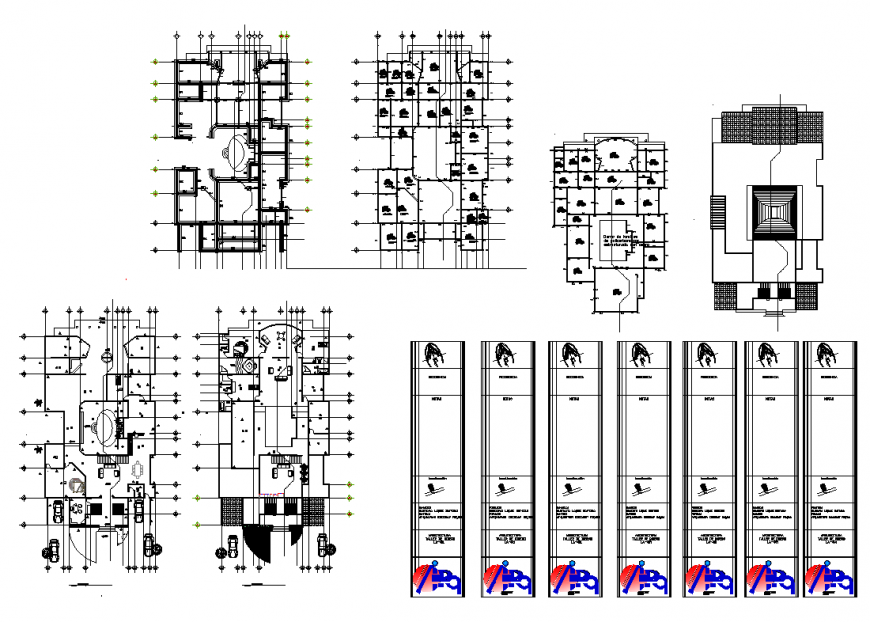 Plan with residential area dwg file