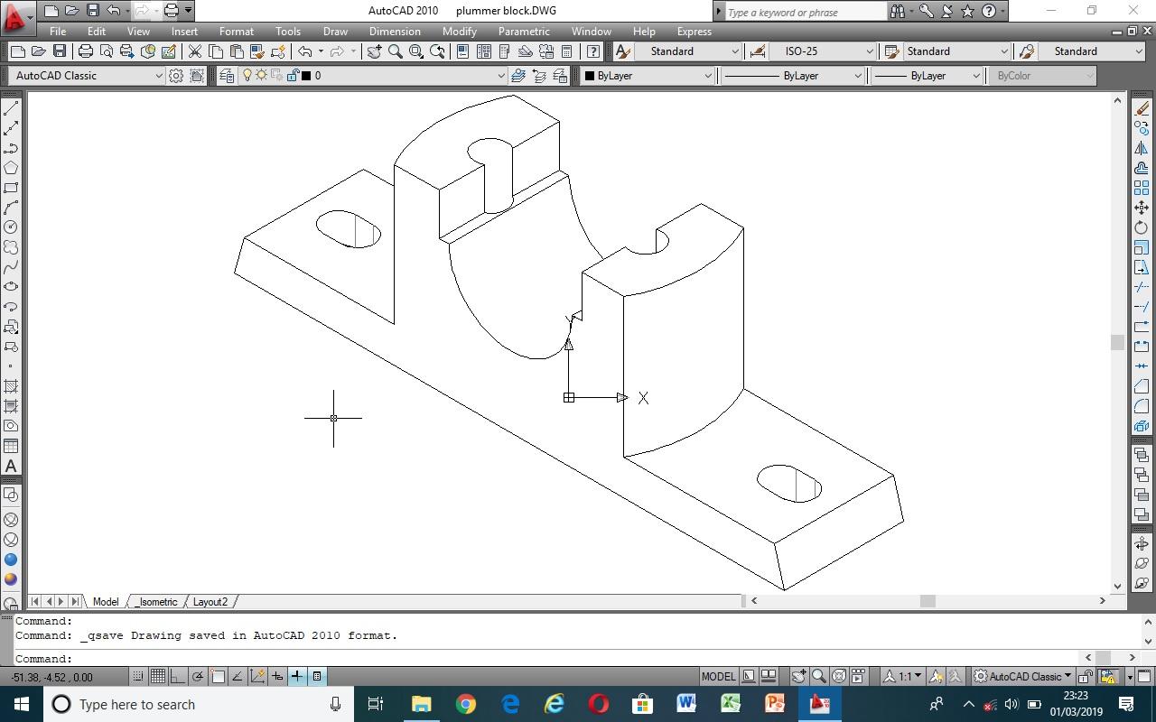 plummber block base Autocad isometric