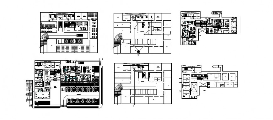 Private clinic general plan and floor plan with cover plan cad drawing details dwg file