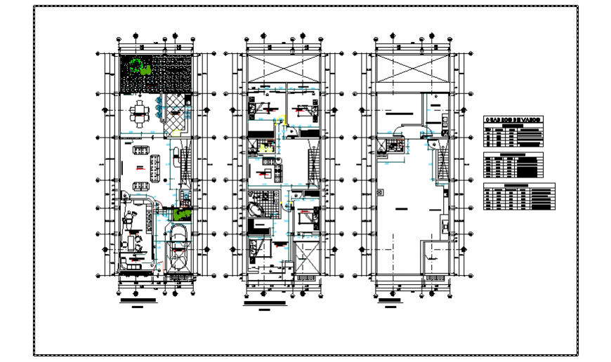 Proposed layout design drawing of single family house design drawing
