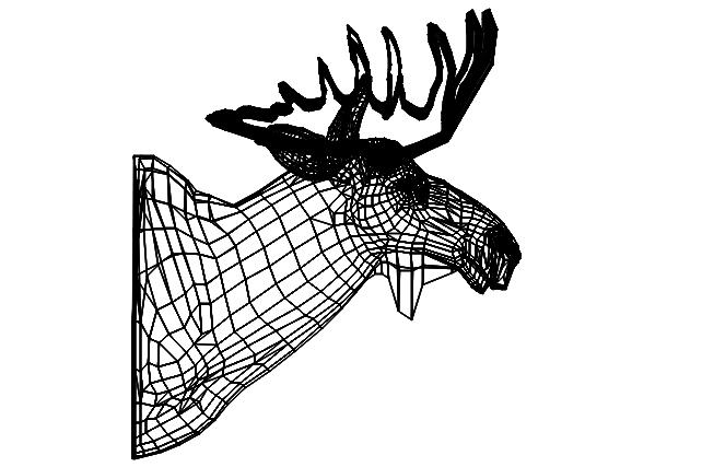 rein deer dwg file