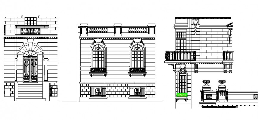 Rosary design elevation in auto cad