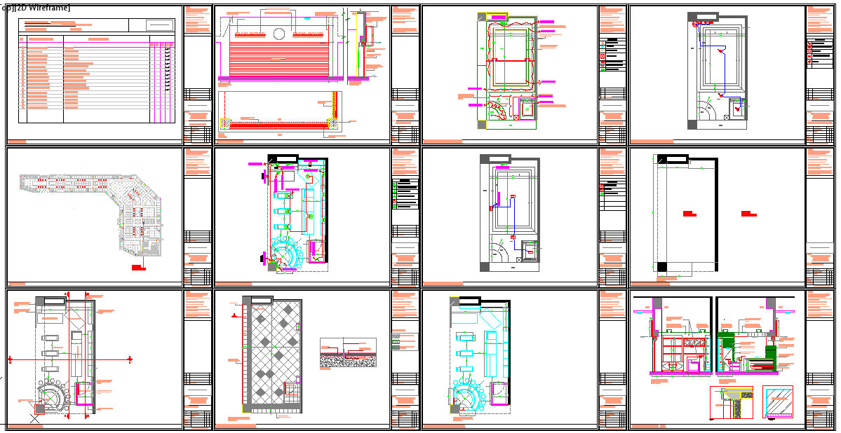 shop detail drawing cad file