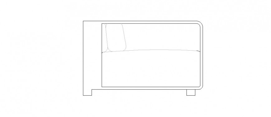 Simple table 2d elevation block cad drawing details dwg file