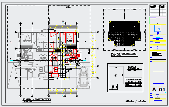 single family housing design drawing