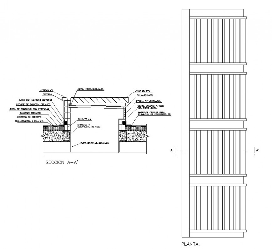 Skylight window detail plan and section detail 2d view CAD block layout autocad file
