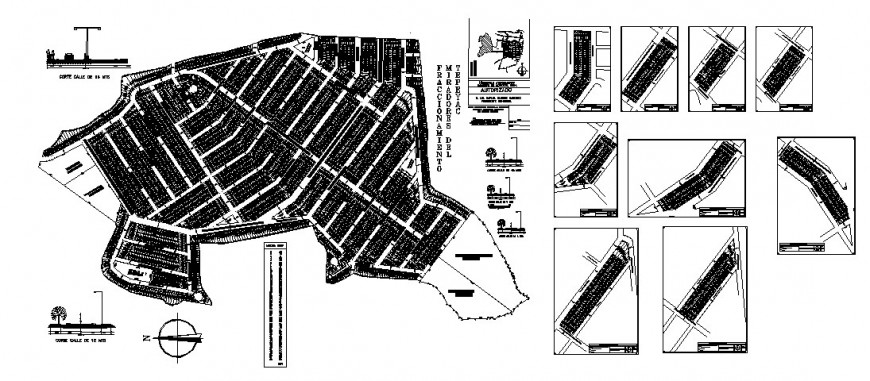Sr. Fransisco city town planning and area distribution plan cad drawing details dwg file