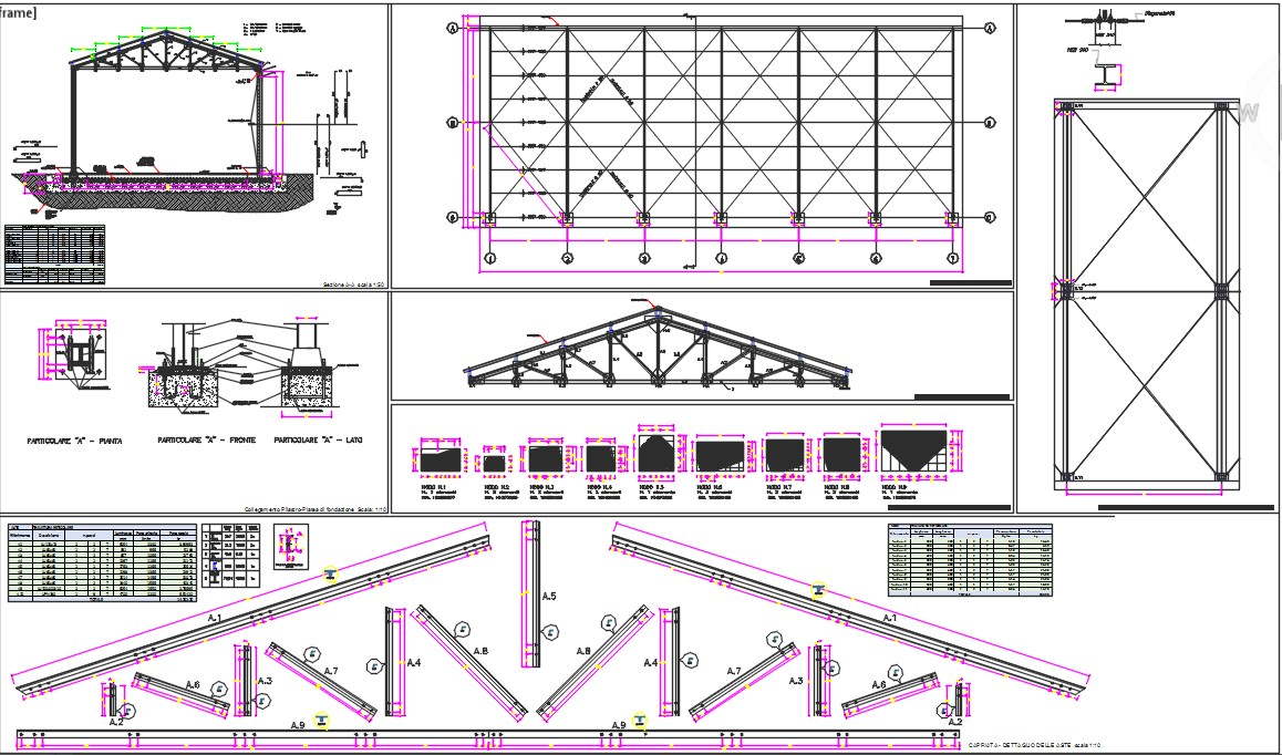 steel structure dwg.