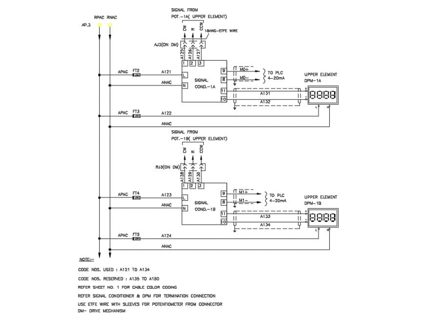 Storage Tank Pipe Line Diagram Detail In Dwg File