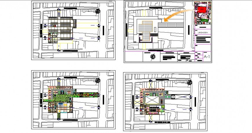 Streep admin office center floor plan distribution cad drawing details dwg file