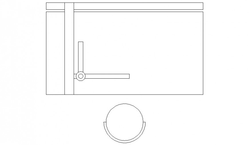 Table and chair 2d Cad drawing of furniture blocks in autocad software