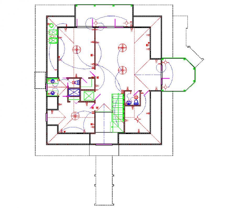 The electric layout plan with detail dwg file.