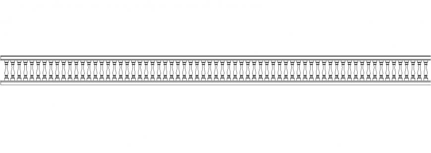 The lengthy railing plan detail dwg file.