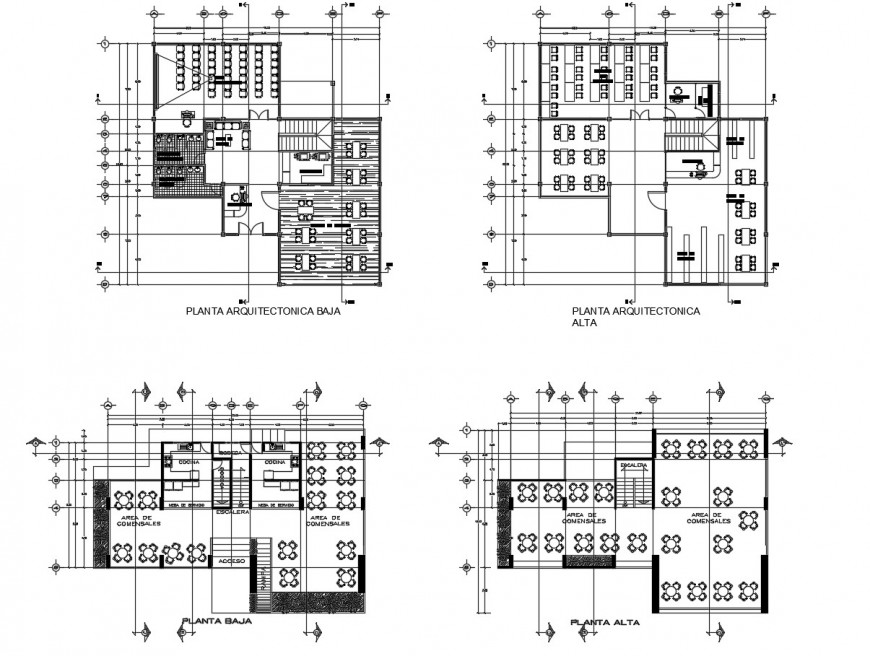 Urban high school building floor plan distribution cad drawing details dwg file